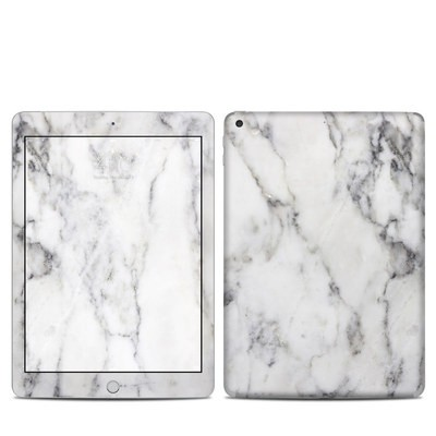 Apple iPad 5th Gen Skin - White Marble