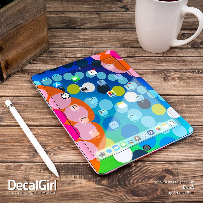 new product 47869 a02b5 Apple iPad 6th Gen Skin - Black Marble