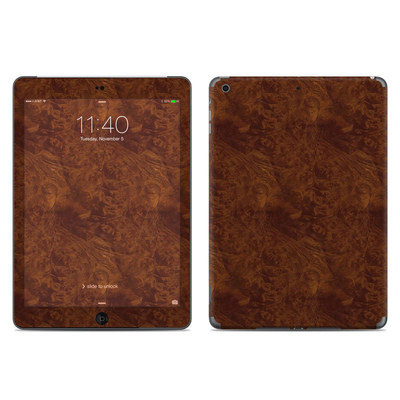 Apple iPad Air Skin - Dark Burlwood