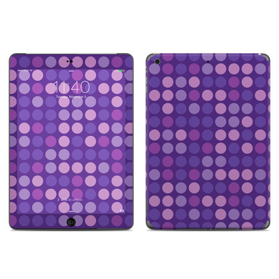 Apple iPad Air Skin - Big Dots Purple