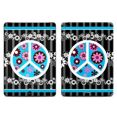 Apple iPad Air Skin - Peace Flowers Black