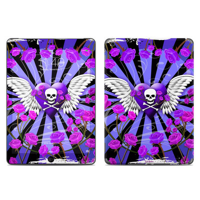 Apple iPad Air Skin - Skull & Roses Purple