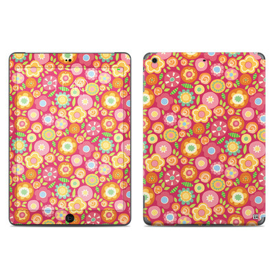 Apple iPad Air Skin - Flowers Squished