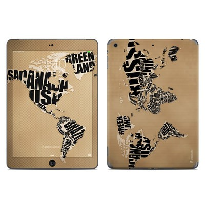 Apple iPad Air Skin - Type Map