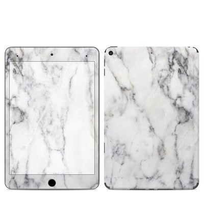 Apple iPad Mini 2019 Skin - White Marble