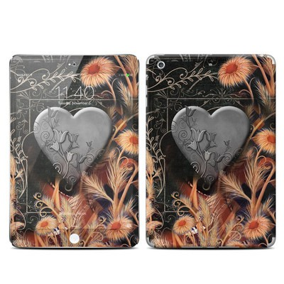 Apple iPad Mini 3 Skin - Black Lace Flower