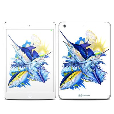 Apple iPad Mini 3 Skin - Blue White and Yellow