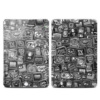 Apple iPad Mini 3 Skin - Distraction Tactic B&W