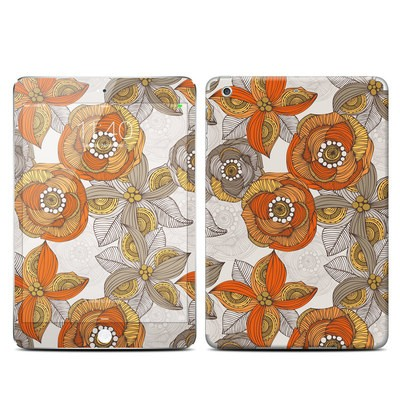 Apple iPad Mini 3 Skin - Orange and Grey Flowers