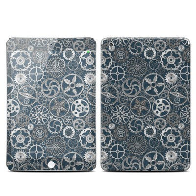Apple iPad Mini 3 Skin - Silver Gears