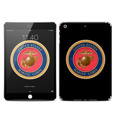 Apple iPad Mini 3 Skin - USMC Black