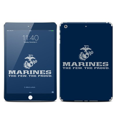 Apple iPad Mini 3 Skin - USMC Blue