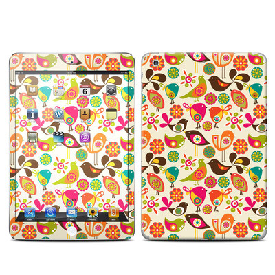 Apple iPad Mini Retina Skin - Bird Flowers