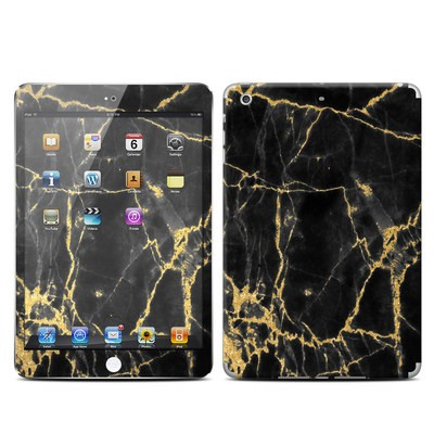 Apple iPad Mini Retina Skin - Black Gold Marble