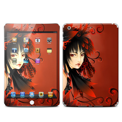 Apple iPad Mini Retina Skin - Black Flower