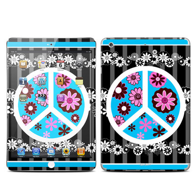 Apple iPad Mini Retina Skin - Peace Flowers Black