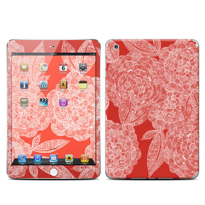 Apple iPad Mini Retina Skin - Red Dahlias