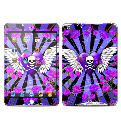 Apple iPad Mini Retina Skin - Skull & Roses Purple