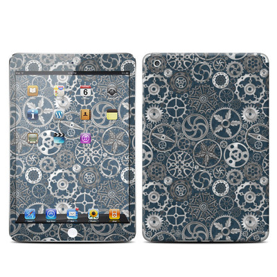 Apple iPad Mini Retina Skin - Silver Gears