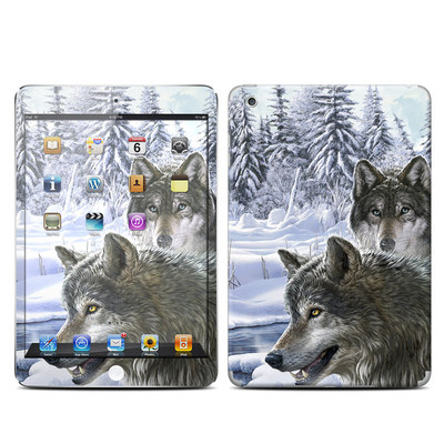 Apple iPad Mini Retina Skin - Snow Wolves