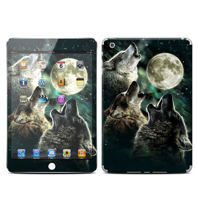 Apple iPad Mini Retina Skin - Three Wolf Moon