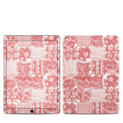 Apple iPad Pro 12.9 (1st Gen) Skin - Red Quilt