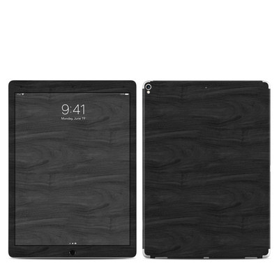 Apple iPad Pro 12.9 (2nd Gen) Skin - Black Woodgrain
