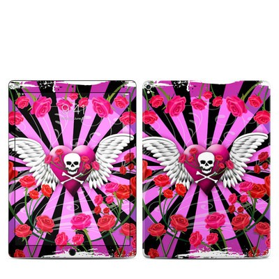 Apple iPad Pro 12.9 (2nd Gen) Skin - Skull & Roses Pink