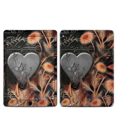 Apple iPad Pro 9.7 Skin - Black Lace Flower
