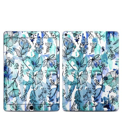Apple iPad Pro 9.7 Skin - Blue Ink Floral