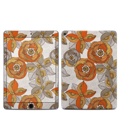 Apple iPad Pro 9.7 Skin - Orange and Grey Flowers