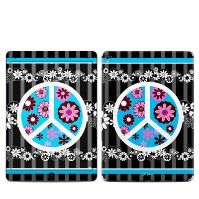 Apple iPad Pro 9.7 Skin - Peace Flowers Black