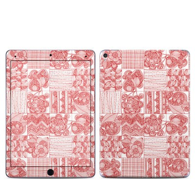 Apple iPad Pro 9.7 Skin - Red Quilt