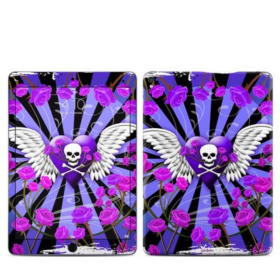 Apple iPad Pro 9.7 Skin - Skull & Roses Purple
