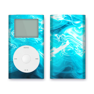 iPod mini Skin - Blue Quantum Waves