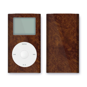 iPod mini Skin - Dark Burlwood