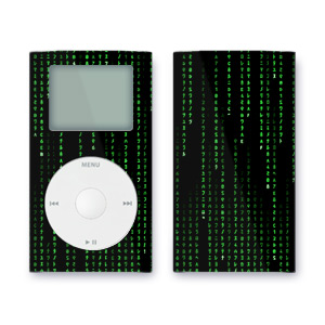 iPod mini Skin - Matrix Style Code