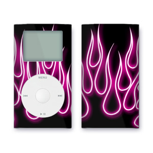 iPod mini Skin - Pink Neon Flames