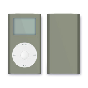 iPod mini Skin - Solid Grey