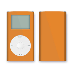 iPod mini Skin - Solid Orange