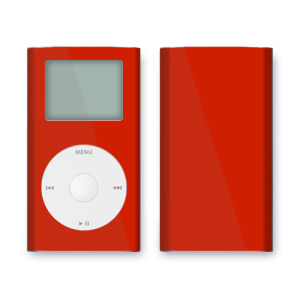 iPod mini Skin - Solid Red