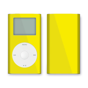 iPod mini Skin - Solid Yellow