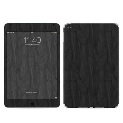 Apple iPad Mini 4 Skin - Black Woodgrain