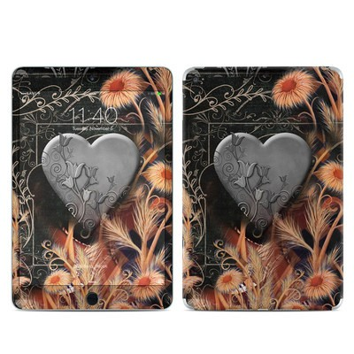 Apple iPad Mini 4 Skin - Black Lace Flower