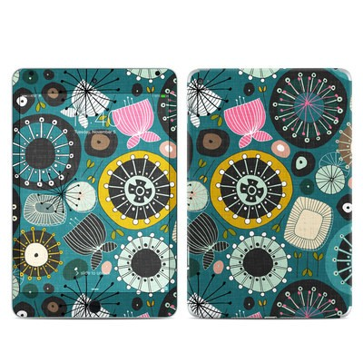 Apple iPad Mini 4 Skin - Blooms Teal
