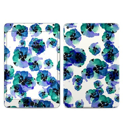 Apple iPad Mini 4 Skin - Blue Eye Flowers