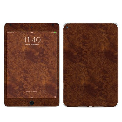 Apple iPad Mini 4 Skin - Dark Burlwood