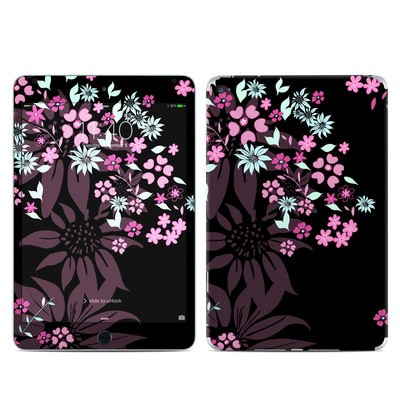Apple iPad Mini 4 Skin - Dark Flowers