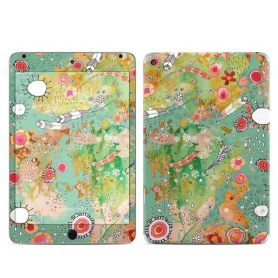Apple iPad Mini 4 Skin - Feathers Flowers Showers