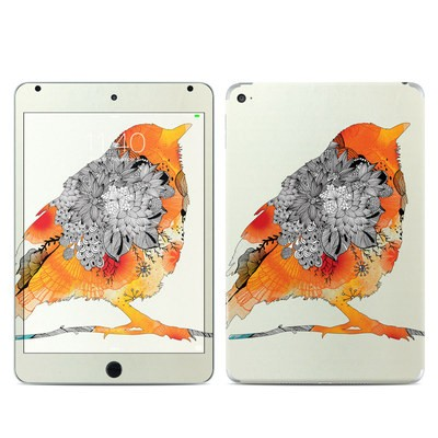 Apple iPad Mini 4 Skin - Orange Bird